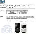 BlackBerry Bold 9780 for Bell Release Date Revealed