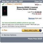 Motorola Droid 2 Amazon Penny Deal: Verizon Wireless