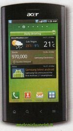 Acer Liquid Metal Android 2.2 Handset Pictured Full Face