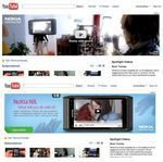 YouTube Promotes Nokia N8 on Main Page