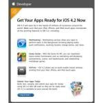 Apple iOS 4.2 Release: Dev Apps Need to be Ready