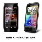 HTC Sensation Vs. Nokia X7 Comparison