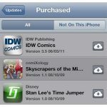 Apple iCloud Live in iPhone App Store Updates- Click Purchased