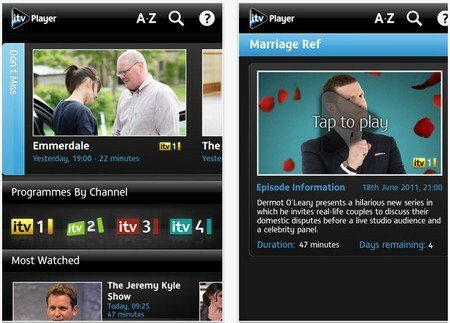 ITV Player App Delivers Streaming TV to iOS and Android