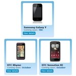 HTC Sensation XE, Rhyme, Galaxy Y Coming Soon to O2UK