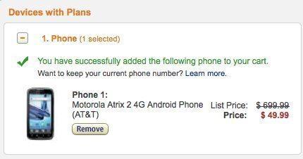 Motorola Artix 2 amazon wireless mega deal