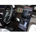 Tesla Model X vehicle packing 17-inch tablet