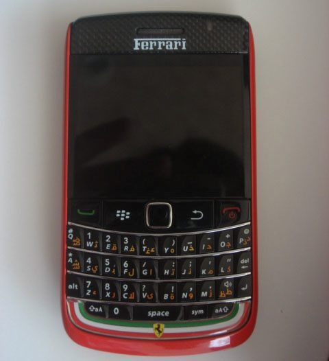 Real or fake Ferrari BlackBerry Bold 9700 big pic