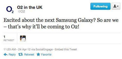 O2 UK boarding the Samsung Galaxy S3 ship