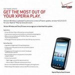 Verizon Sony Xperia Play Android 2.3.4 update details