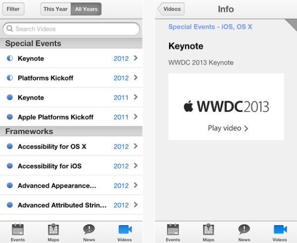 2013 WWDC app details and Apple icon clue