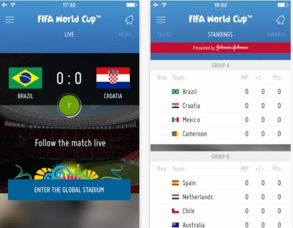 2014 FIFA World Cup official apps for Android, iPhone and iPad