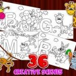 ABC123 Coloring Book Pro app for kids