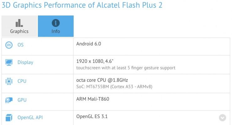 Alcatel Flash Plus 2 specs leak includes smaller display