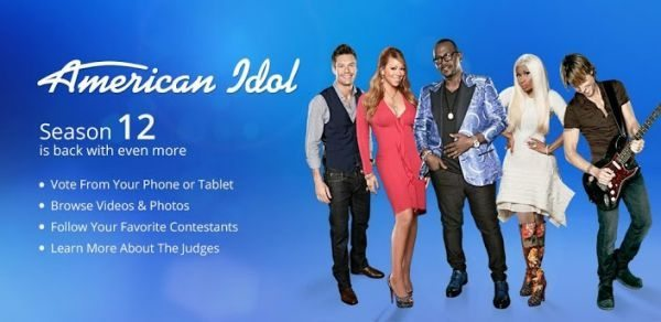 American Idol app for season 12 live voting