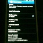 Android 4.3 seen on Galaxy S3 before release