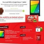 Android 4.4 KitKat clever advertising with Nexus 7 promotions