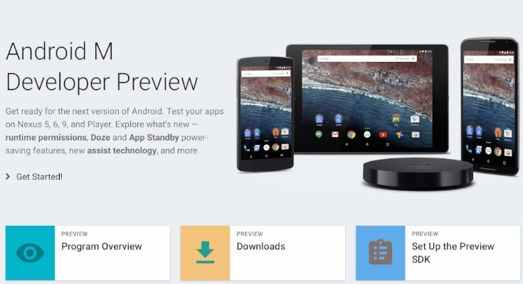 Android M preview release