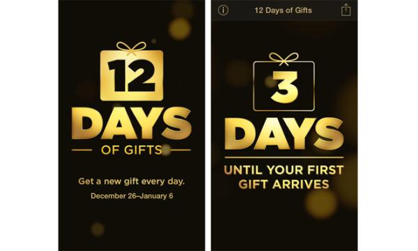 Apple 12 Days of Gifts app in US release joy