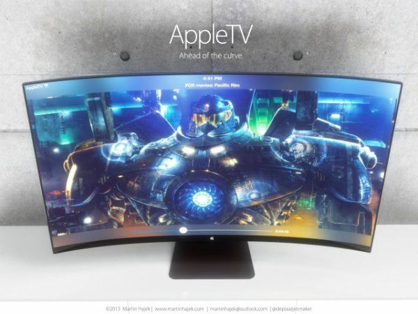 Apple TV concept, iTV curve is perfect AirPlay companion3