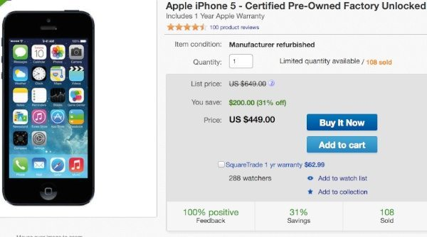 Apple's refurbished iPhone store on eBay