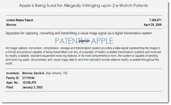 Apple vs e-Watch in iPhone patent infringement lawsuit