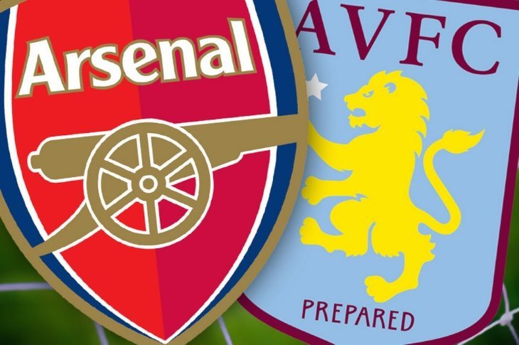 Arsenal lineup news vs Aston Villa plus live scores