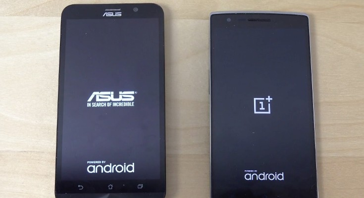 Asus Zenfone 2 vs OnePlus One bootup speeds