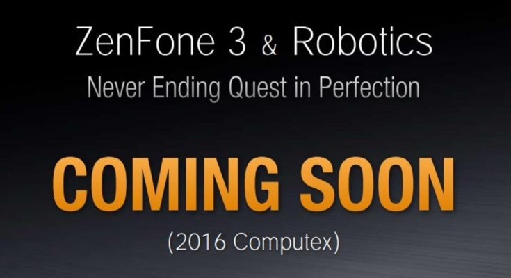 Asus Zenfone 3 set for official reveal at Computex 2016