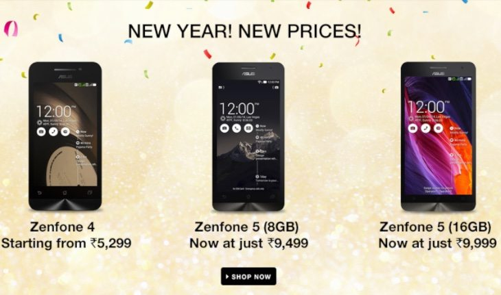 Zenfone 5 and 4 India price drops on Flipkart