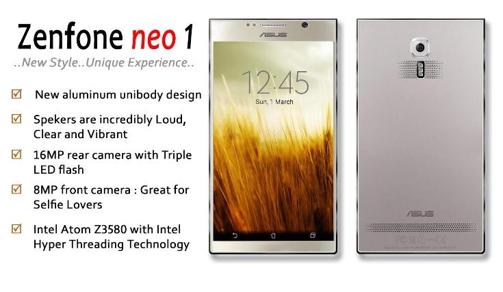 Asus Zenfone Neo 1 design c