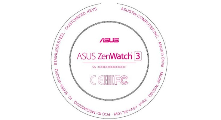 Asus ZenWatch 3 spotted through FCC certification