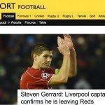 BBC Sport Steven Gerrard news b