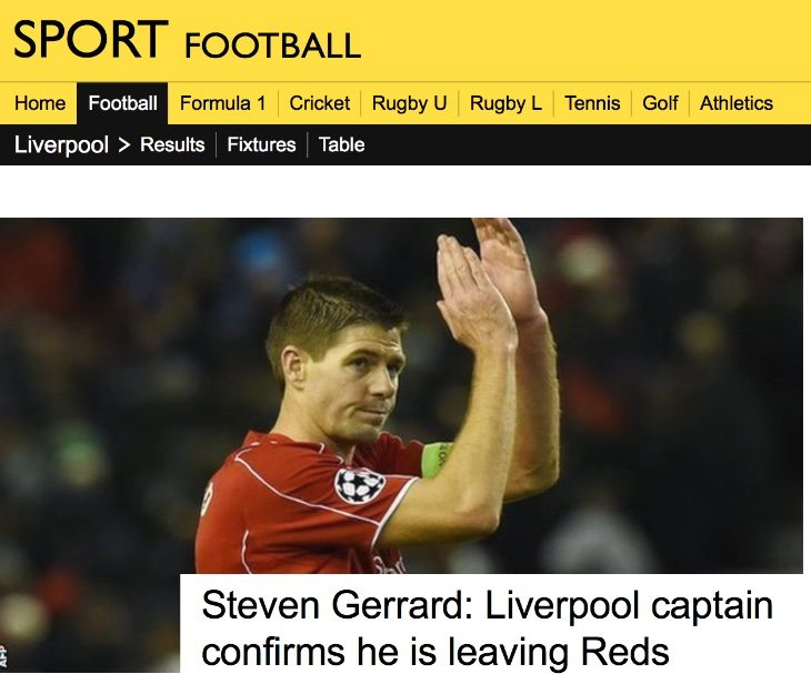 BBC Sport Steven Gerrard and transfer windows news