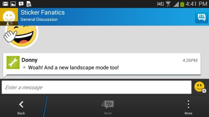 BBM Android iOS update b