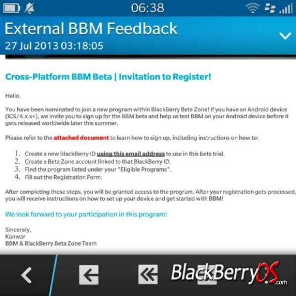 BBM for Android, iOS beta tests, imminent release