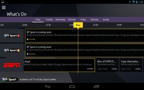 BT Sport app for Android needs Chromecast ASAP pic 2