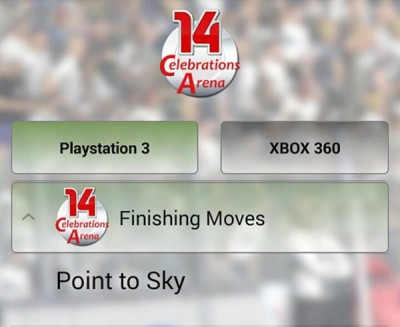 Barcelona's Messi Point to the Sky in FIFA 14 Celebrations app