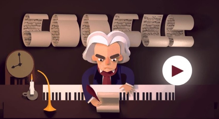 Beethoven Google Doodle could be the most elaborate yet