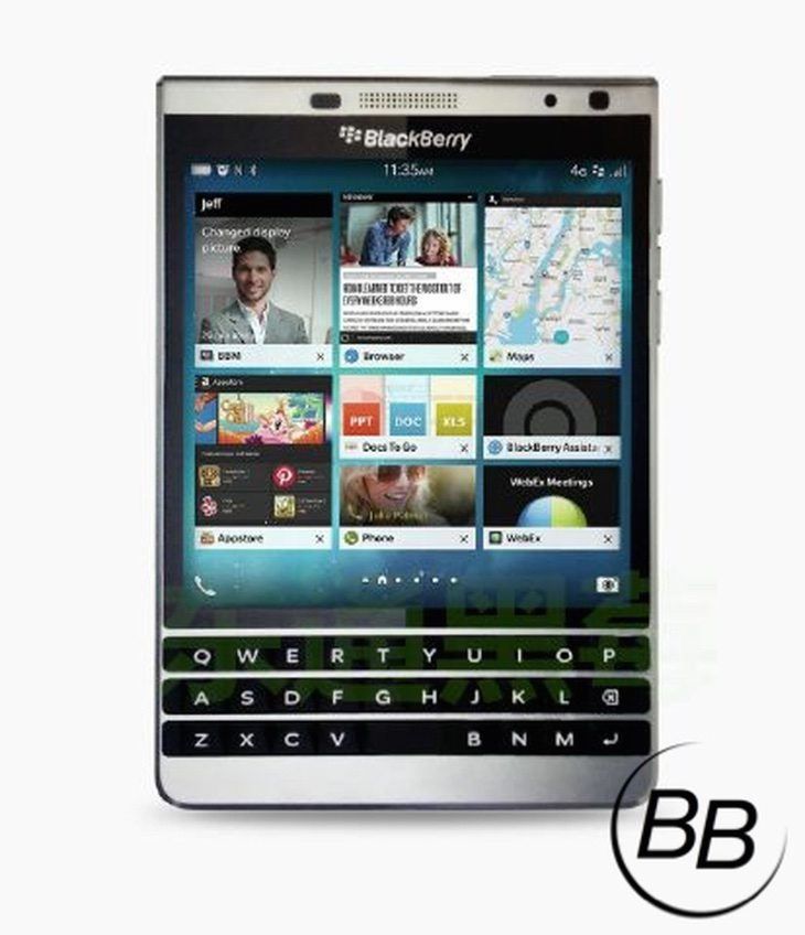 BlackBerry Leap leak includes image