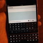 BlackBerry Passport images and browser glimpse video