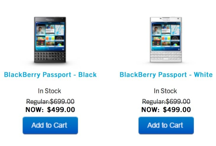 BlackBerry Passport price slash