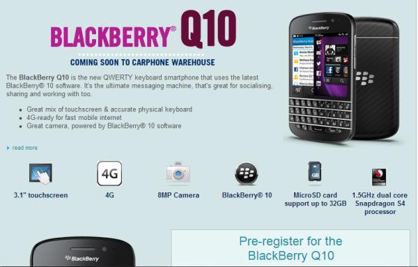BlackBerry Q10 UK release nears