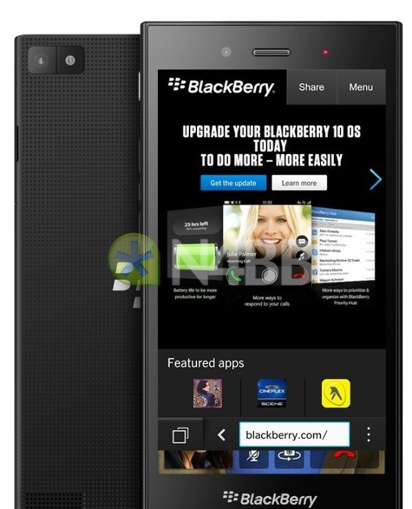 BlackBerry Z3 leaked specs images