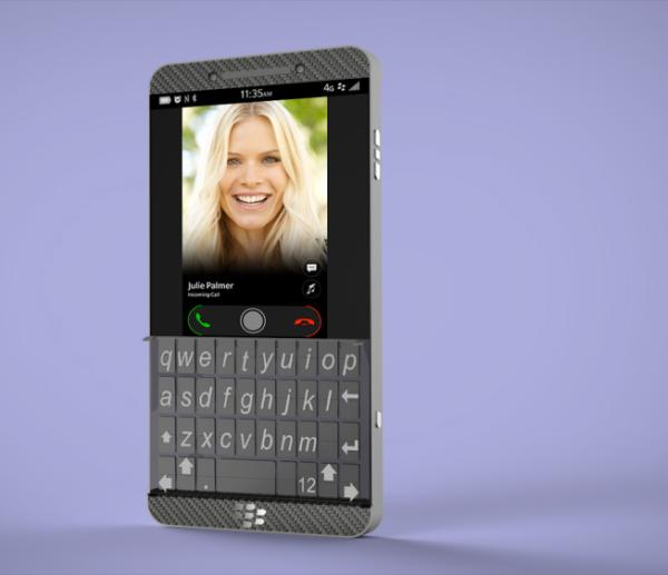 BlackBerry with new physical keyboard imagined