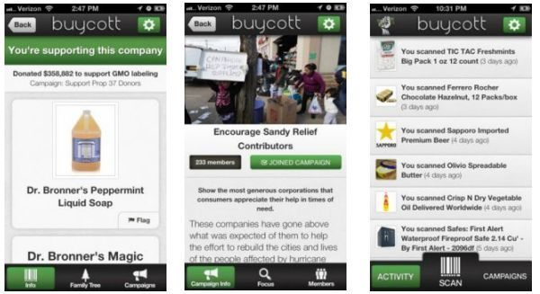 Buycott app reflection and UK companies boycott method pic 1