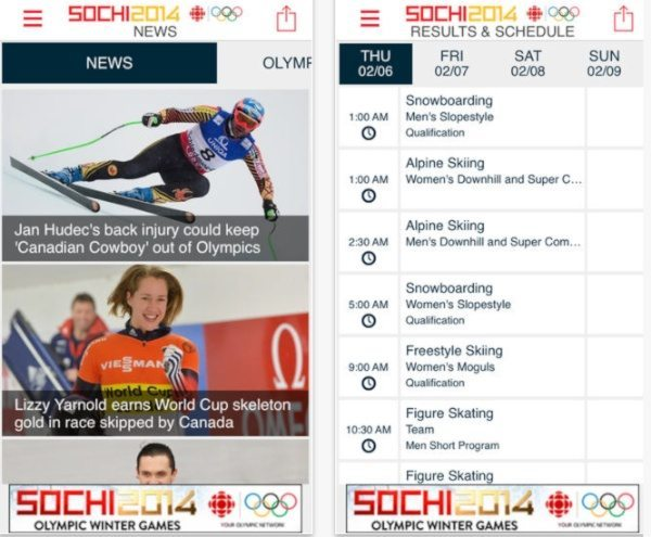 CBC Olympics Sochi app offers live streaming