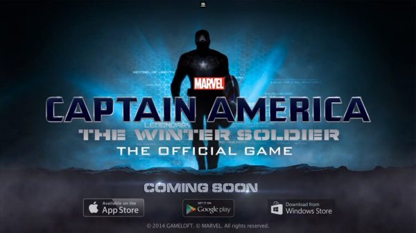 Captain America The Winter Soldier app, gameplay release