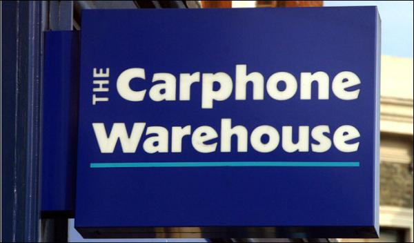 Carphone Warehouse in possible Dixons deal