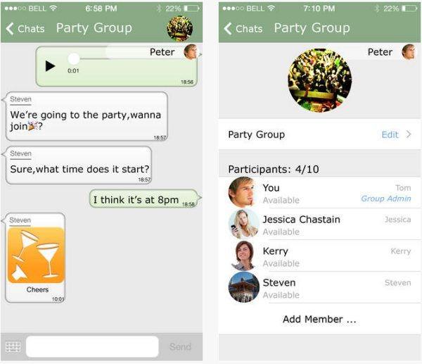 Chaatz social messaging app with custom numbers